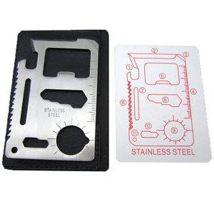 11 Function Survival Card Knife Tool